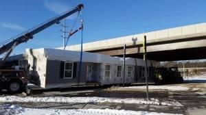 Modular Home Wreck 1/15/2015