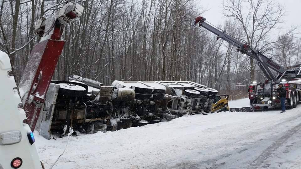 Salt Truck Roll Over 2015